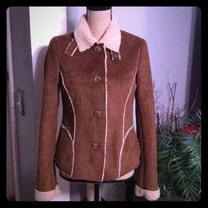 Old Navy Brown Faux Suede Sherpa Lined Jacket